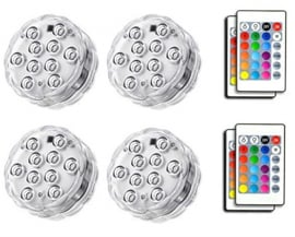 4 x LED Dekoration Unit 7 cm Multicolor