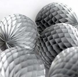 Zilveren Honeycomb 35 cm