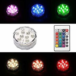 4 x LED decoratie unit 7 cm Multicolor