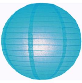 Lampion blauw 25 cm