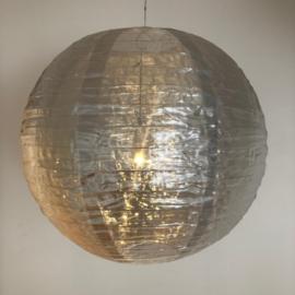 5 stuks Nylon lampion zilver 35 cm
