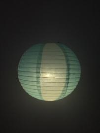 Wit / licht blauw 35 cm