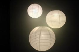 10 stuks witte lampion 35 cm