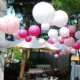 Lampion roze 35 cm