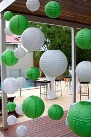 Lampion groen 25 cm