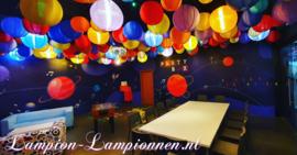 5 x Orange Lampion Nylon 35 cm