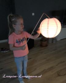 50 x Verlichte lampion met  stokje