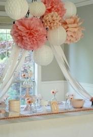 Licht roze PomPom 35 cm