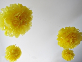 Gele PomPom 35 cm