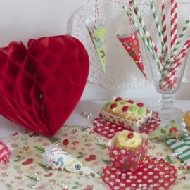 Rode Honeycomb hart 35 cm