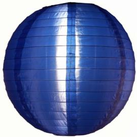 Nylon lampion donker blauw 25 cm