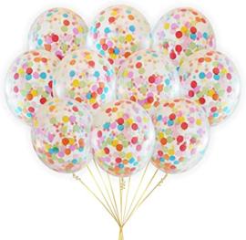 10 x Confetti ballon multi