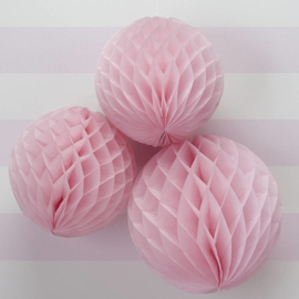 Licht roze Honeycomb 35 cm