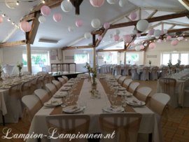 Combinatie pakket MEDIUM - wit - licht roze - roze