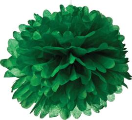 5 x PomPom dunkelgrün 35 cm