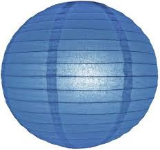 Lampion donker blauw 25 cm