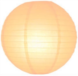 Pfirsich orange lampion 25 cm