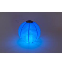 Solar Lampion rund blau 35 cm (Solarenergie)