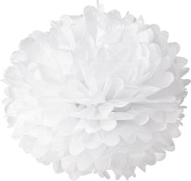 5 x PomPom Weiß 35 cm