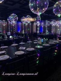 10 stuks LED Ballon XL 40 cm - multicolor - incl Helium tank