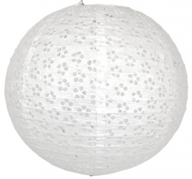 Eyelet lampion wit 25 cm