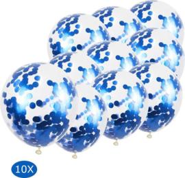 10 x Confetti ballon blauw