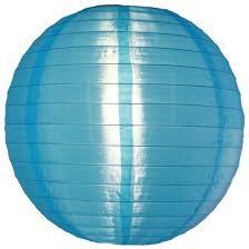 Nylon lampion blauw 35 cm