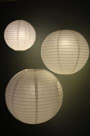 Lampion wit 25 cm