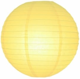 Hellgelb lampion 25 cm