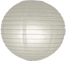 Lampion licht grijs 25 cm (koopjeshoek)