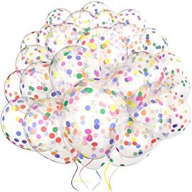 10 x Konfetti Ballon farbe mix