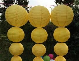 Lampion licht geel 35 cm