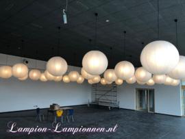 Lampion schwer entflammbar weiß 75 cm
