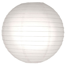 Brandvertragende lampion wit 45 cm