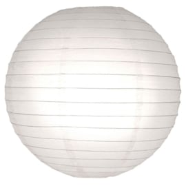 10 x Brandvertragende lampion wit 35 cm