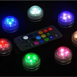 LED decoratie unit 3 cm Multicolor - set 10 stuks