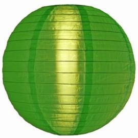 Nylon lampion groen 25 cm