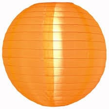 Lampion orange de nylon 25 cm