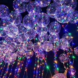 5 stuks LED Ballon XL - multicolor - 40 cm