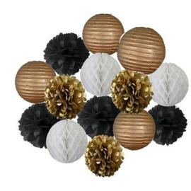 Combinatie pakket GOUD - wit - goud - zwart