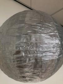 Nylon lampion zilver 25 cm