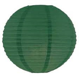Lampion donker groen 25 cm