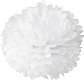 Witte PomPom 35 cm