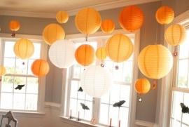Lampion oranje 35 cm