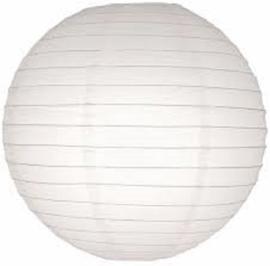 5 stuks witte lampion 25 cm