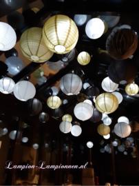 Lampion zilver 45 cm