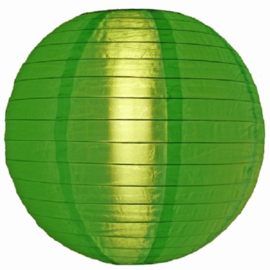 5 x Lampion vert de nylon 35 cm