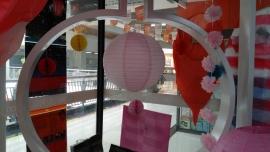 Wit / licht roze 35 cm
