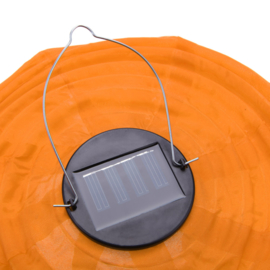 5 x Solar Lampion rund orange 35 cm (Solarenergie)