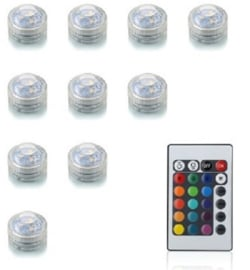 Set 10 x LED Lampen warm/weiß, hell/weiß, multicolor mit Fernbedienung